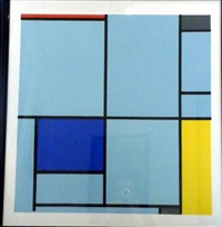 composition abstraite by piet mondrian