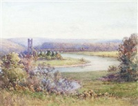 inniscarra abbey on the river lee by kate dobbin