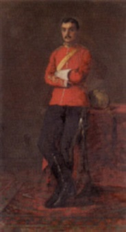 portrait of a colonel by charles napier kennedy