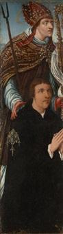 donateurs et leurs saints protecteurs (2 works) by jan van scorel
