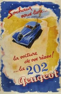 sochaux vous livre, la voiture de vos reves, la 202 peugeot by jean jacquelin