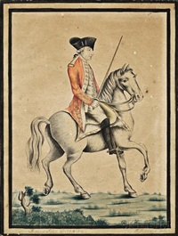portrait of major john pitcairn on horseback by paul revere