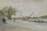 la seine au pont de la concorde by f. leteurtre