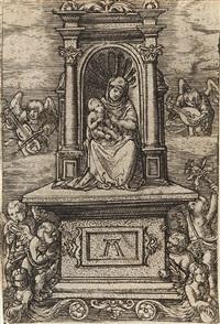 die schöne maria auf dem thron by albrecht altdorfer