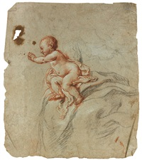 vierge à l'enfant (study)(+ putti (study); 2 works) by cornelis schut the elder