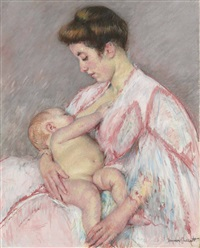 baby john nursing by mary cassatt