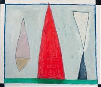 kompositie met rode spits by harrie gerritz
