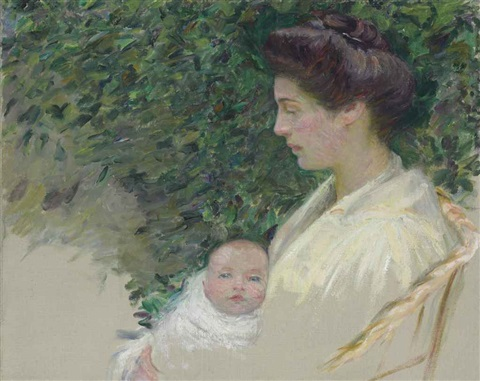mother and baby alice grew and anita by lilla cabot perry