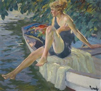 die badenixe (the bather) by edward cucuel