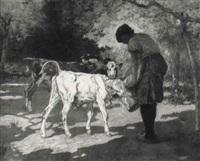 scène de ferme by adrien gabriel voisard-margerie