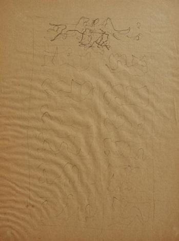 la v porta del duomo di milano studio by lucio fontana