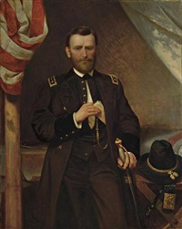 general ulysses s. grant in his tent by emanuel gottlieb leutze