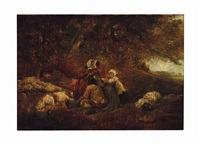 a wayside rest by george morland