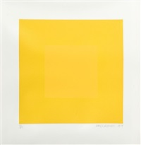 summer suite (yellow with yellow) by richard anuszkiewicz