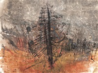 fir trees, perthshire by joan kathleen harding eardley