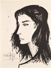 tête brune by bernard buffet