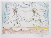 les dames de la renaissance (ladies of the renaissance), for suite mythologique nouvelle (new mythological suite) by salvador dalí