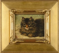 chat couché by henriette ronner-knip