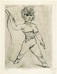 dompteuse by otto dix