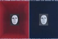 tu sei il testimone nascosto dietro la tua immagine e tu es el temoin cache derriere ton image (2 works) by vincenzo agnetti