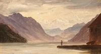 lucerne sjøen ved brunnen (utsyn mot uri bukten) i sveits by thomas fearnley