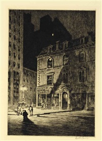 the great shadow; the boyfriends (2 works) by martin lewis