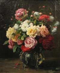 vase with roses by alexis kreyder