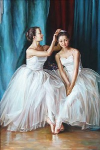 two ballet dancers by alexander akopov