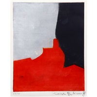 composition rouge, grise et noire/red, gray and black composition by serge poliakoff