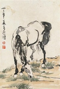 骏马图 by xu beihong