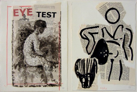 eye test diptych by william kentridge