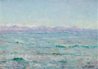 les alpes vues de la mer by julien gustave gagliardini