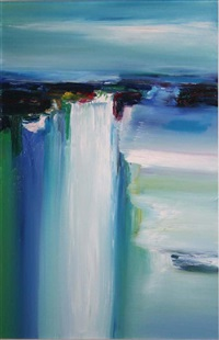 sherkin dock waterfall by majella o'neill collins