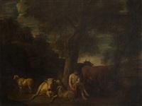 resting shepherd by dirk van bergen