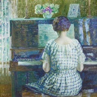 at the piano by louis ritman