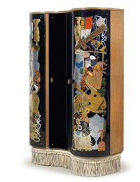 important cabinet by gio ponti and piero fornasetti