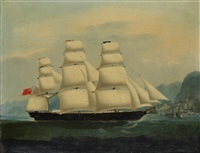 a british clipper in hong kong harbour by anglo-chinese school (19)