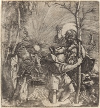der heilige christophorus by albrecht altdorfer