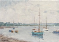 on the river deben (+ another; pair) by leslie kent