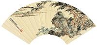 春江小景 镜心 纸本 by xiao junxian
