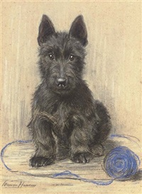 """sandy"", a scottish terrier by marion rodger hamilton harvey"