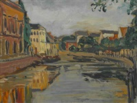 canal. boulevard (2 works) by fernand piet