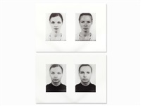 2 screen prints, other portraits (2 works) by thomas ruff