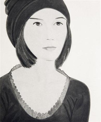 six female portraits portfolio of 6 by alex katz