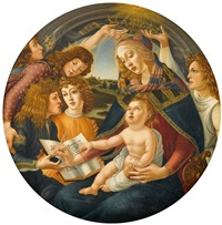 madonna of the magnificat by sandro botticelli