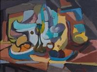 untitled - landscape (+ untitled - still life; 2 works) by saliba douaihy