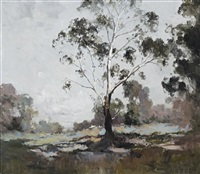 landscape with white gum by theodore penleigh boyd