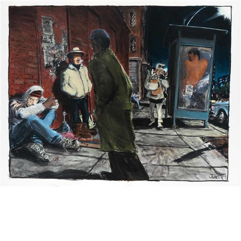 untitled (street scene) by james romberger