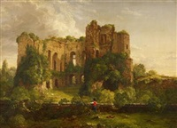 part of the ruins of kenilworth castle by thomas cole