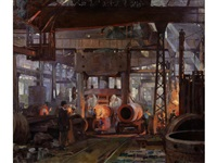 forging section of 18 naval gun jacket by anna airy